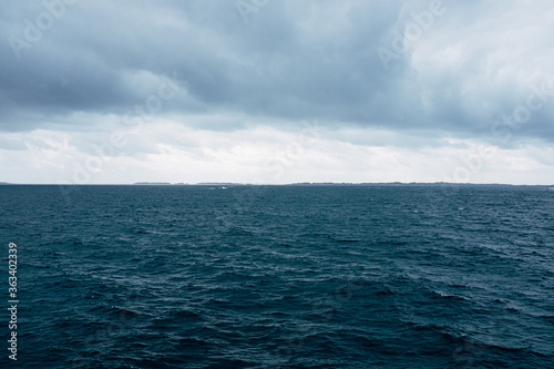 Scenic View Of Sea Against Sky Canvas