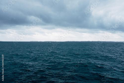 Scenic View Of Sea Against Sky Fotobehang