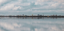 Signature Buildings Of Portsmouth From A Distance, With The Spinnaker Tower, From Hayling Island, Uk
