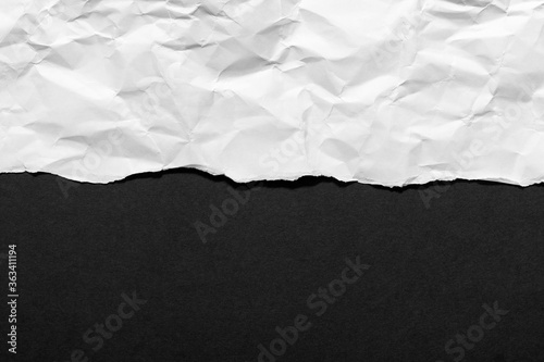 Foto White ripped paper