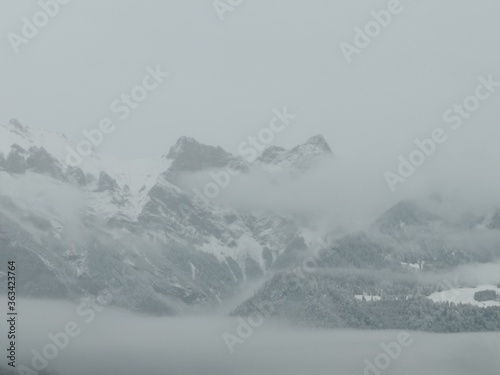 Fototapety, obrazy: Scenic View Of Snowcapped Mountains Against Sky