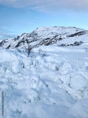 Snow Covered Mountain Against Sky #363424144