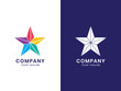 Modern Community Star logo. For personal or business. Colorful gradient concept. This logo is good for group, organization, friendship, or any industry. Modern, elegant, simple. Vector Illustration.