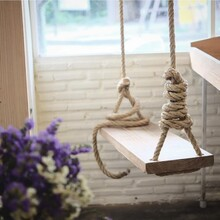 Close-up Of Swing Hanging On W...