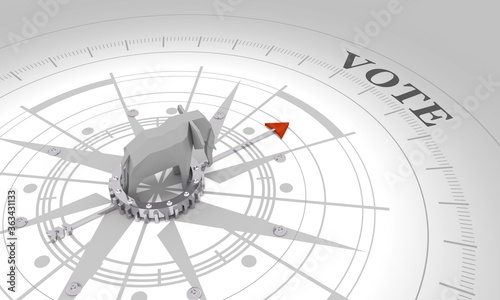 Voting concept Fototapet