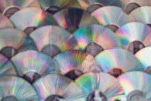 Full Frame Shot Of Multi Colored Compact Discs