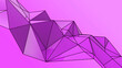 canvas print picture - Purple abstract modern crystal background. Polygon, Line, Triangle pattern shape for wallpaper. Illustration low poly, polygonal design. futuristic, web, network concept