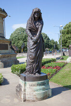 Lady Macbeth At The William Shakespeare Memorial At Bancroft Gardens In Stratford Upon Avon In Warwickshire In The UK