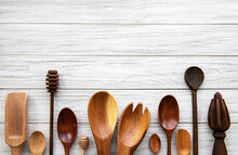 Wooden Cutlery Kitchen Ware