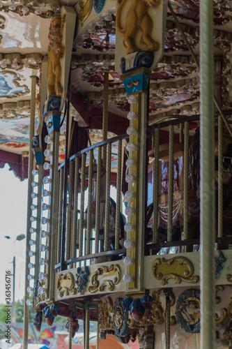 Fototapety, obrazy: children's carousel in the park