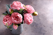 Pink Peonies For Interior Decoration