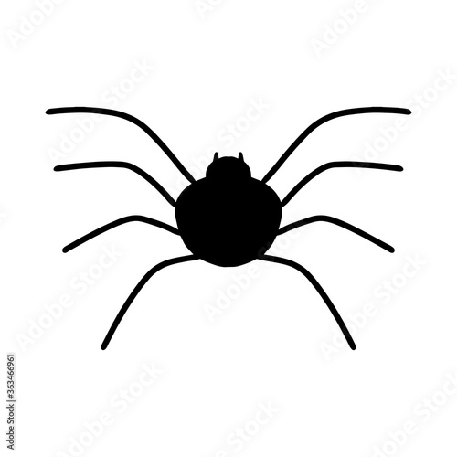A Doodle-style spider Canvas Print