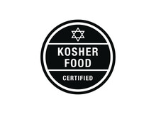 Kosher Food  Vector Sign. Vect...