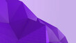 canvas print picture - Violet abstract modern crystal background. Polygon, Line, Triangle pattern shape for wallpaper. Illustration low poly, polygonal design. futuristic, web, network concept