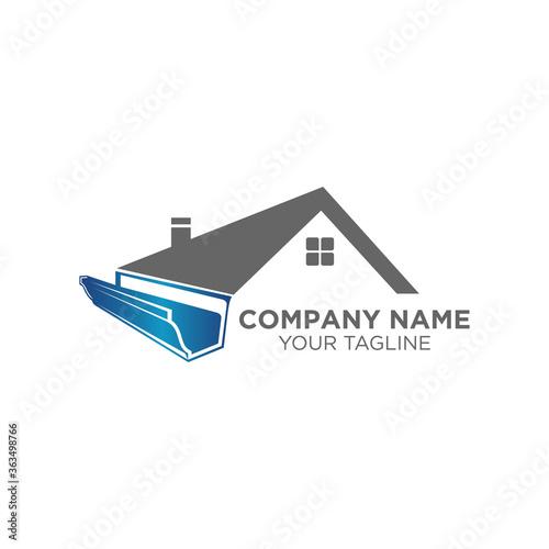 house roof gutter logo design Fototapet
