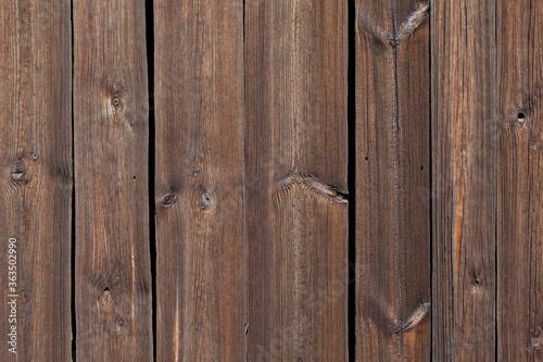 Drewniana ściana starej stodoły, fragment.