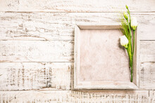 White Flowers With Square Tray...