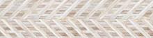 Wicker Basket Weave Texture, Wood Parquet Background