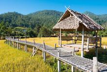 Pai Bamboo Bridge (Boon Ko Ku So) In Pai, Mae Hong Son Province, Thailand.