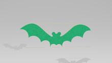 BAT On The Wall. 3D Illustrati...
