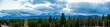 Leinwandbild Motiv Panoramic View Of Mountains Against Sky