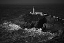 High Angle View Of Lighthouse ...
