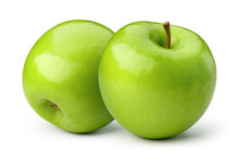 Green Apples Isolate. Apple On...