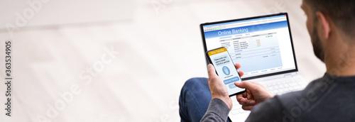 Fototapeta Online Banking Mobile Ecommerce Authentication App obraz