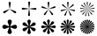 black and white flowers snow icons set vector illustration pattern abstract background art design Trendy