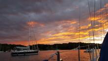 Sunset On Lake Champlain Yacht...