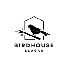 Bird House Logo Vector Icon Il...