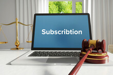 Subscribtion. Law. A Lawyer La...