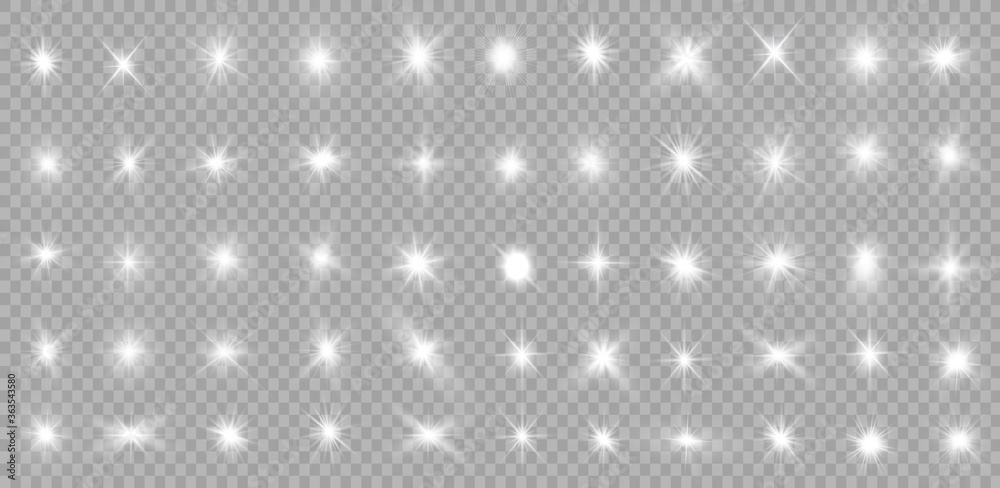 Fototapeta White light stars.