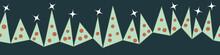 Row Of Simple Christmas Trees ...