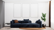 3D Render Of A Living Room Wit...
