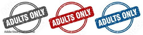 Fotografie, Obraz adults only stamp. adults only sign. adults only label set