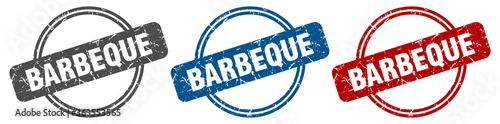 Fototapeta barbeque stamp. barbeque sign. barbeque label set obraz