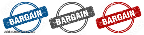 Photo bargain stamp. bargain sign. bargain label set