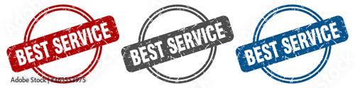 Obraz na plátne best service stamp. best service sign. best service label set