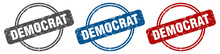 Democrat Stamp. Democrat Sign....