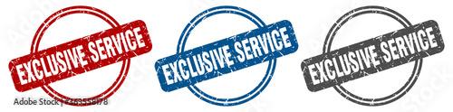 Fototapeta exclusive service stamp. exclusive service sign. exclusive service label set obraz
