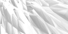 White Geometric Poligon Abstra...