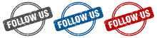 Follow Us Stamp. Follow Us Sig...