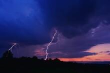 Lightning That Strikes The For...