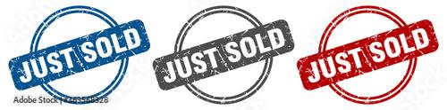 just sold stamp. just sold sign. just sold label set Billede på lærred