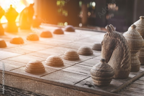 Foto Close-up Of Chess Pieces