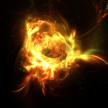 Abstract Fire Flames Fractal A...