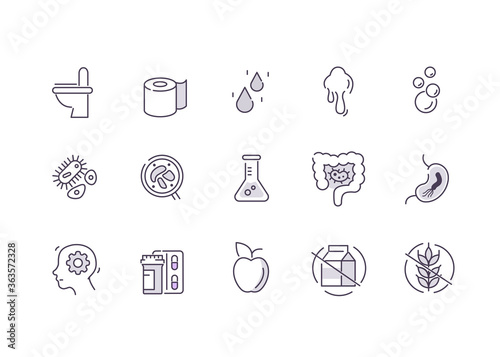 Valokuvatapetti Irritable Bowel Syndrome Symbols