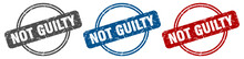 Not Guilty Stamp. Not Guilty S...