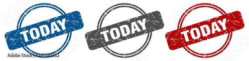 Obraz today stamp. today sign. today label set - fototapety do salonu